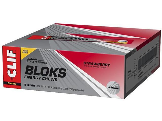 CLIF Bar Shot Bloks Box 18 x 60g Erdbeere